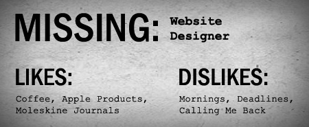 Missing Web Site Designer
